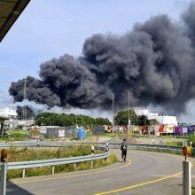Vokietijoje per sprogimą chemijos pramonės komplekse žuvo žmogus, dar keturių tebeieškoma