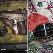 Policija pas sendaikčių prekeivį aptiko devynis ginklus ir kelis šimtus šovinių