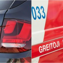 BMW pėsčiųjų perėjoje partrenkta mažametė atsidūrė medikų rankose