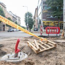 Kęstučio gatvės remonto pabaigos laukia ne tik vairuotojai, bet ir pėstieji