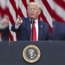 D. Trumpas nežino, kada atvers sienas europiečiams