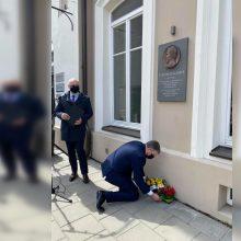 Vilniuje atidengta atminimo lenta Vasario 16-osios Nepriklausomybės Akto signatarui S. Kairiui