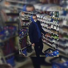 Alytuje apšvarinta parduotuvė: prašo atpažinti vyrą nuotraukoje