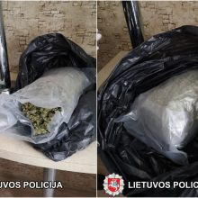Policija sulaikė narkotikų tiekimu į Marijampolę įtariamą vyrą: namuose rastas kilogramas kanapių
