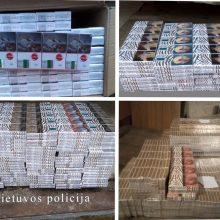 Nepasimokė: pusamžis vyras įkliuvo su cigarečių kontrabanda už beveik 16 tūkst. eurų