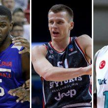 Dešimt Europos taurės ir Čempionų lygos krepšininkų, galinčių atsidurti Eurolygoje