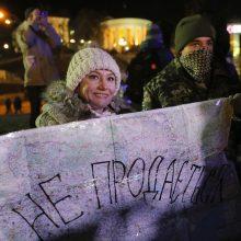Tūkstančiai žmonių Kijeve dalyvavo antirusiškame proteste