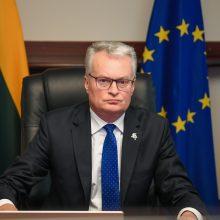 G. Nausėda paragino tarptautinę bendruomenę siekti branduolinio saugumo