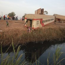 Egipte per traukinio avariją žuvo vienuolika žmonių, dar 98 sužeisti