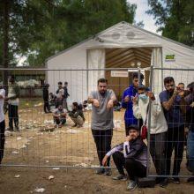Policija atlieka ikiteisminį tyrimą dėl galimo plėšimo Rūdninkų migrantų stovykloje