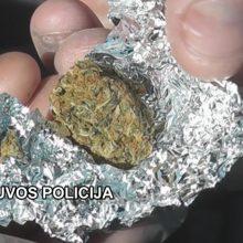 Vilniuje sulaikytas vyras, turėjęs pusantro šimto folijos lankstinukų su narkotikais