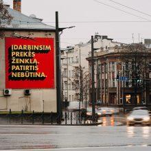 Kauno centre – akį traukiantis skelbimas: darbas visame pasaulyje, patirtis nebūtina