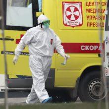 Rusijoje pastarąją parą nuo koronaviruso mirė rekordiškai daug pacientų