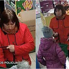 Vilniaus pareigūnai aiškinasi vagystės detales: prašo atpažinti moterį