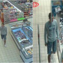 Alytaus policija aiškinasi, kas apsipirko neišleidęs nė cento