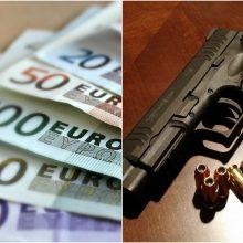Iš buto Vilniuje vagys pasisavino šautuvą ir pusketvirto tūkstančio eurų