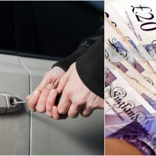 Kaune iš automobilio pavogta tūkstantinė pinigų suma