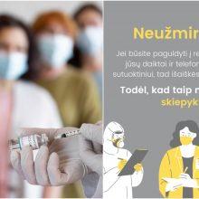 Internete – naujas raginimas vakcinuotis: skiepykitės, nes išaiškės visi jūsų meilužiai