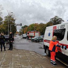 Sankryžoje prie Klaipėdos geležinkelio stoties vėl – avarija