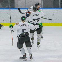 """Kauniečių tvirtovėje triumfavusi """"Hockey Punks"""" komanda atsidūrė per žingsnį nuo aukso"""