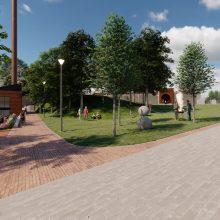 Sostinės stoties rajone planuojama įrengti skverą: gali kainuoti apie 5 mln. eurų