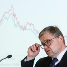 V. Vasiliauskas: santūresnės euro zonos raidos perspektyvos nėra gera žinia Lietuvai