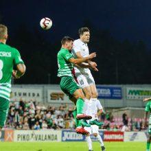 """""""Sūduvos"""" futbolininkai rungtynes su """"Ferencvaros"""" baigė nulinėmis lygiosiomis"""