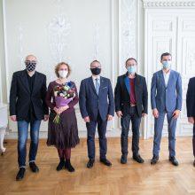 Šešiems menininkams įteikti svarbiausi Kultūros ministerijos apdovanojimai