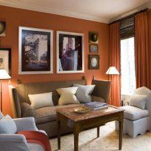Namuose – stilinga rudos spalvos elegancija