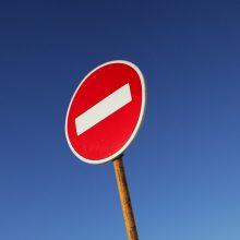 Krivūlės gatvėje bus draudžiamas eismas