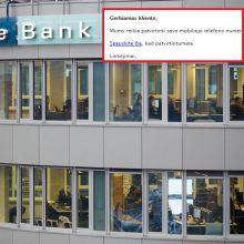Sukčiai ir toliau bando pralobti: šį kartą nusitaikė į banko klientus