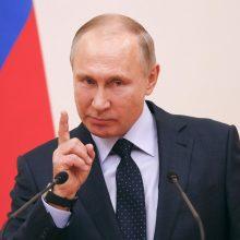 """V. Putinas: Venesuelos opozicijos lyderį palaikantys Vakarai """"išprotėjo"""""""