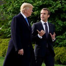E. Macronas iškėlė D. Trumpui sąlygas dėl G7 deklaracijos pasirašymo