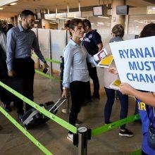 """Teismas leido britų """"Ryanair"""" pilotams streikuoti"""