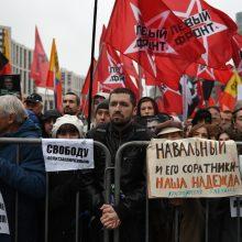 Maskvoje tūkstančiai žmonių reikalavo paleisti politinius kalinius