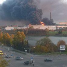 Dėl gaisro Alytuje ekstremali situacija valstybėje neskelbiama