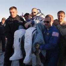 Trys TKS įgulos nariai sėkmingai baigė savo misiją