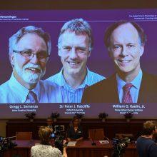 2019-ųjų Nobelio medicinos premija paskirta dviem amerikiečiams ir britui