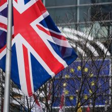 """""""Brexit"""" sutarties projektas įveikė svarbią kliūtį Europos Parlamente"""