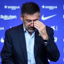 """Permainos """"Barcelonoje"""": iš posto traukiasi klubo prezidentas"""