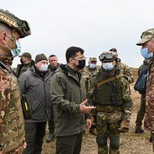 Ukrainos lyderis: Rusijos kariai gali sugrįžti bet kurią akimirką