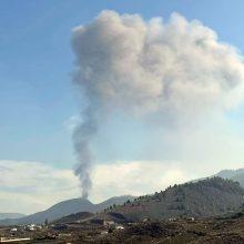 """Mokslininkai: prasideda Kanarų ugnikalnio """"mažesnio aktyvumo"""" fazė"""