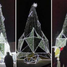Panevėžyje – netikėtumai su Kalėdų egle