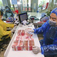 Lietuva su koronavirusu kovojančiai Kinijai skirs 100 tūkst. eurų