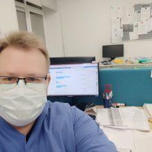 Koronaviruso židinyje dirbęs gydytojas D. Miezenas: buvo ir stiprių emocijų