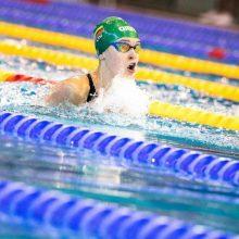 Pasaulio jaunimo plaukimo čempionato finale K. Teterevkova finišavo šešta