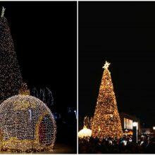 Kalėdų eglė Alytuje sužibo aštuoniais tūkstančiais lempučių