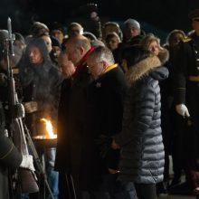 Virš tūkstančio žmonių Laisvės gynėjų dieną minėjo prie Seimo