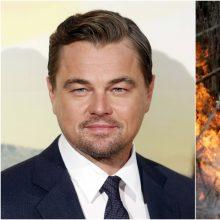 Kino žvaigždė L. DiCaprio kovai su liepsnomis Australijoje skirs 2,7 mln. eurų