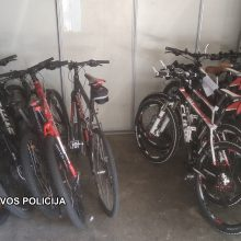 Neringos pareigūnai operatyviai surado dešimt pavogtų dviračių
